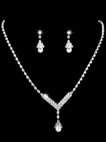Ladies's Gorgeous Rhinestone Jewelry Set