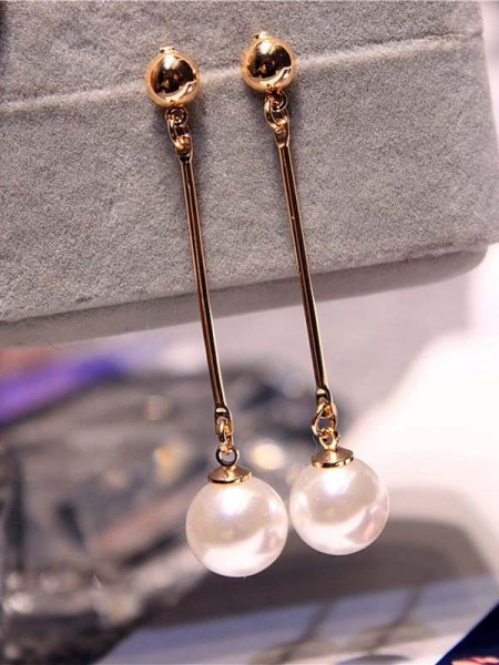 Korean Attractive Imitation Pearl Women's Earrings