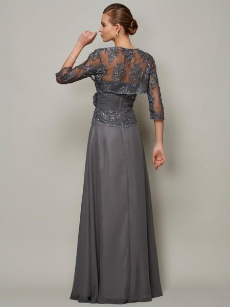 A-Line/Princess Chiffon Sweetheart Floor-Length Applique Sleeveless Mother of the Bride Dresses