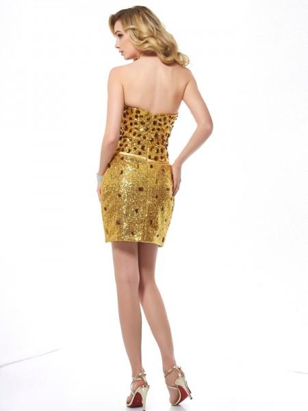 Sheath/Column Sequins Sweetheart Short/Mini Sleeveless Dresses