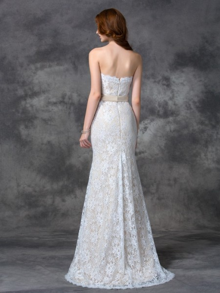 Trumpet/Mermaid Applique Floor-length Sweetheart Sleeveless Satin Bridesmaid Dresses