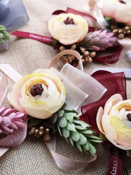 Attractive Cloth Wrist Corsage Wedding Flower