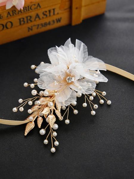 Corsage Crystal Wedding Handmade Pearls Wrist Flower