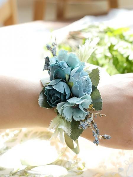 Beautiful Cloth Wrist Corsage Bridesmaid Sisters Hand flowers