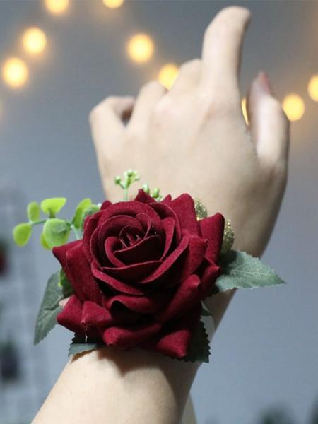 Attractive Cloth Wrist Corsage Wedding Dancing Party Decor