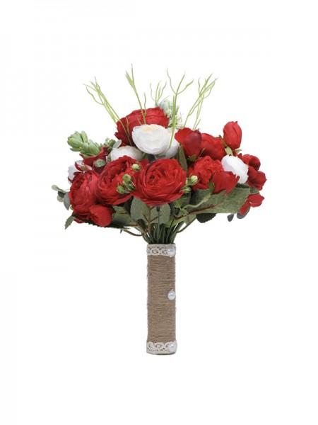 Free-Form Gorgeous Silk Flower Bridal Bouquets