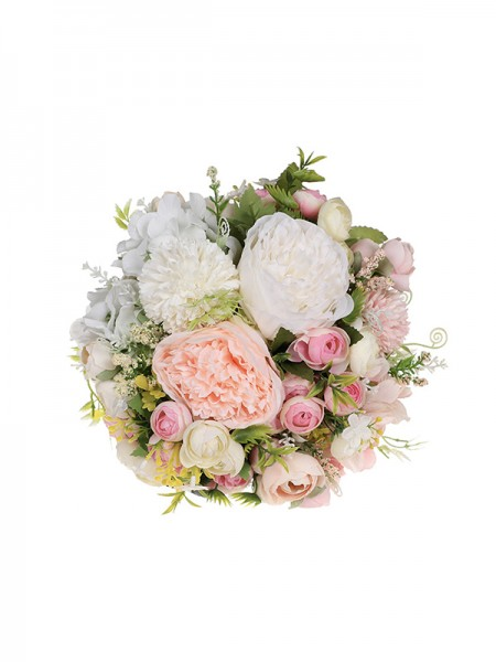 Elegant Round Plastic Wedding Bridal Bouquets