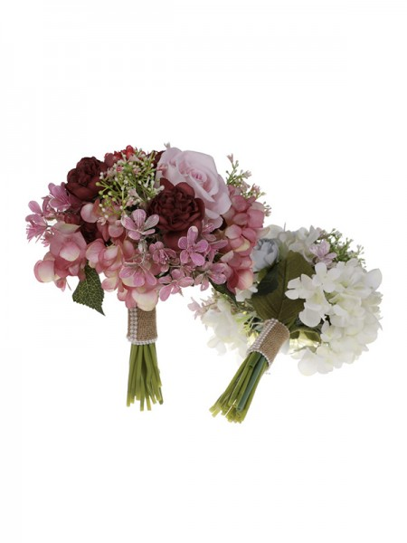 Wedding Flower Sweet Round Plastic Bridal Bouquets