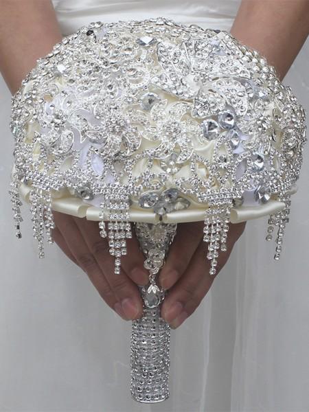 Wedding Supplies Charming Round Satin Bridal Bouquets