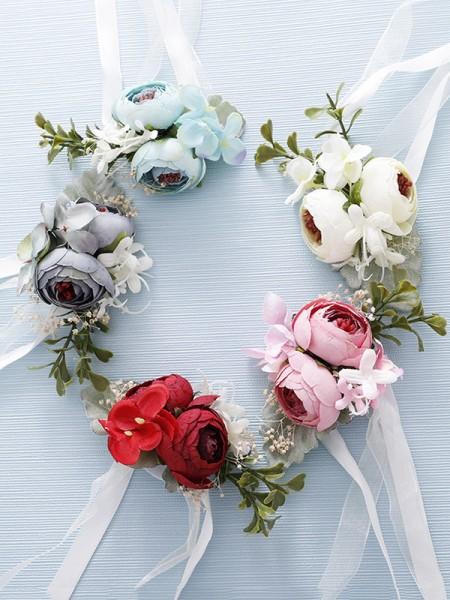 Graceful Cloth Bridal Wrist Corsage
