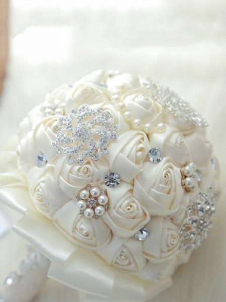 Luxurious Bridal Bouquets Round Artificial Flower