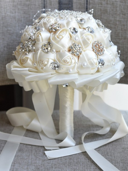 Luxurious Round Cloth Bridal Bouquets Artificial Flower