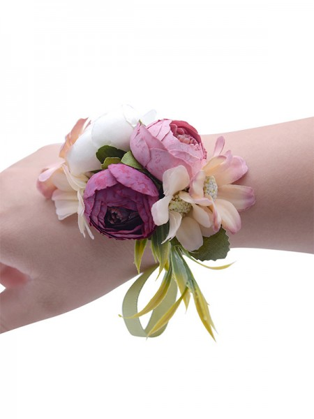 Wedding Supplies Fascinating Cloth Wrist Corsage