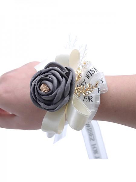 Nice Hand-tied Cloth Wrist Corsage Wedding Supplies