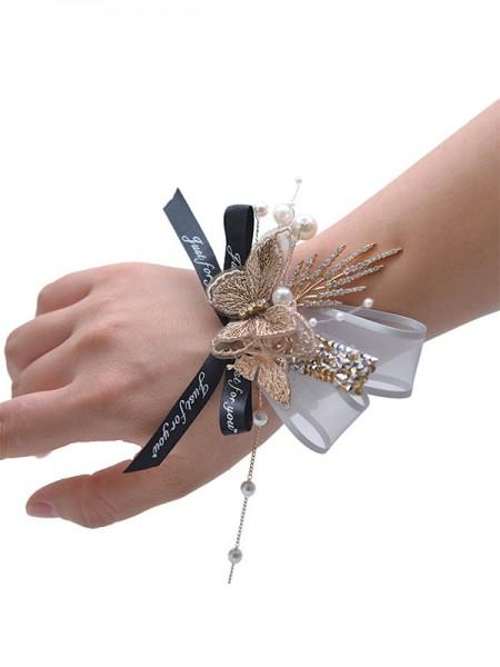 Charming Crystal Bridal Wrist Corsage