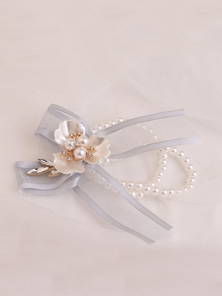Sweet Imitation Pearl Wedding Party Wrist Corsage