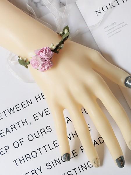 Low-key Cloth Wedding Party Wrist Corsage