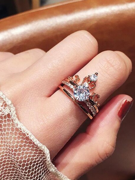 Charming Copper With Zircon Hot Sale Rings