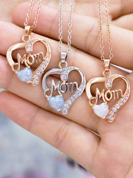 Trending Copper With Zircon Necklaces For Mother