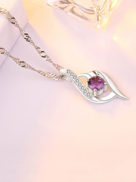 Korean Brilliant S925 Silver With Zircon Ladies Necklaces
