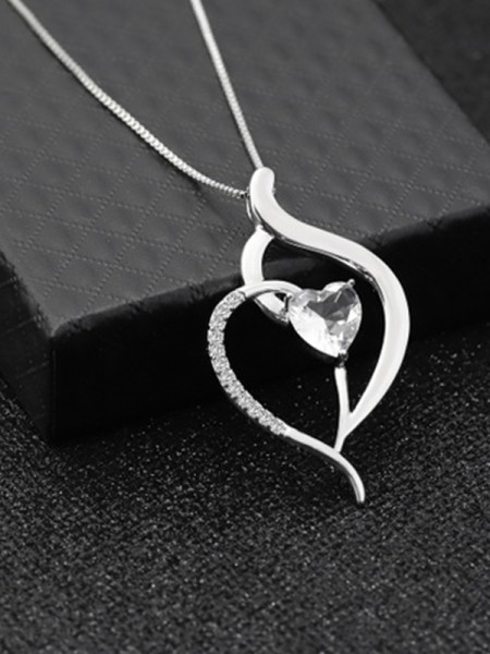 Womens Titanium With Zircon Classic  Necklaces