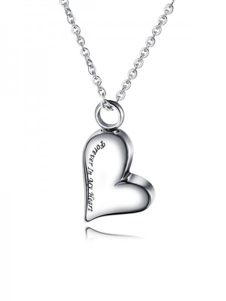 Chic Titanium With Love Ladies Necklaces