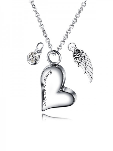 Fancy Titanium With Love Women Necklaces