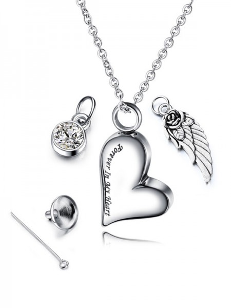 Attractive Titanium With Love Womens Necklaces