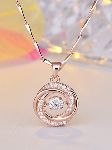 Ladies Fancy Copper With Zircon Necklaces