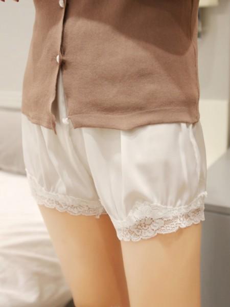 Polyester Fiber Women's Lace Safety Pants/Safety Shorts