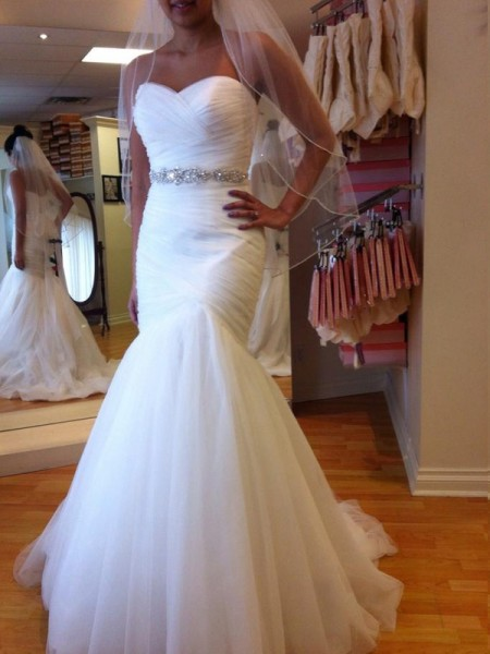 Trumpet/Mermaid Court Train Tulle Sleeveless Sweetheart Beading Wedding Dresses