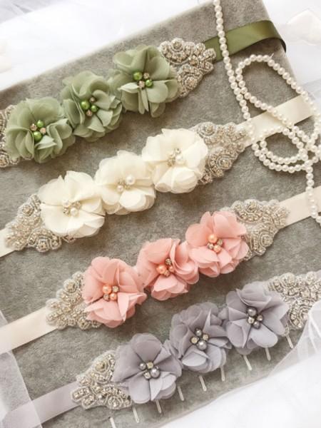 Bridal Wedding Satin Sash Dress Waist Belt