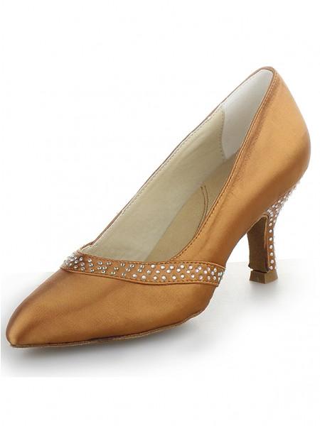 Satin Cone High Heels SW162451I