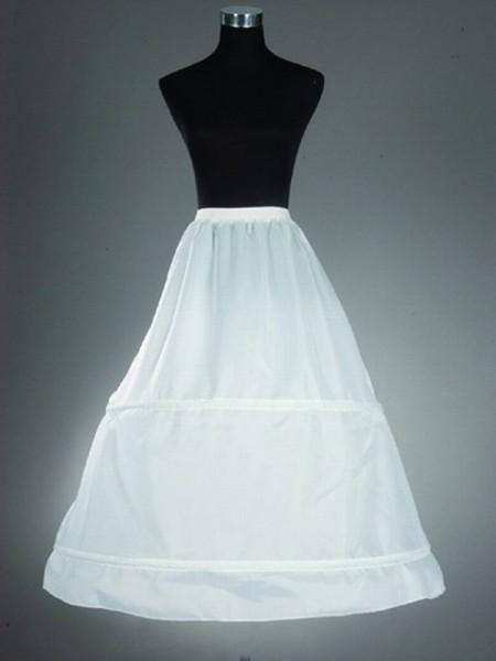 Nylon A-Line 1 Tier Floor Length Slip Style/Wedding Petticoats