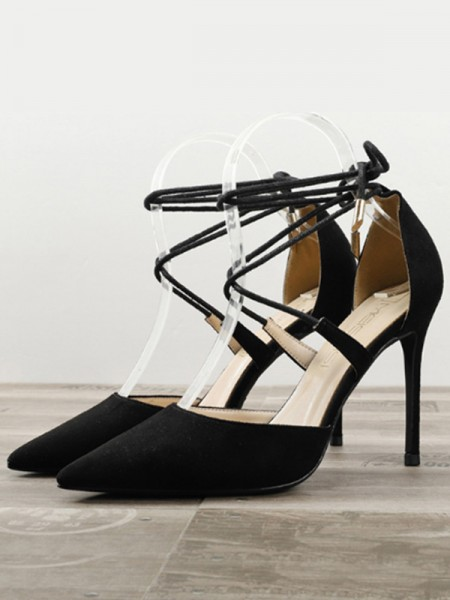 Kvinner Semsket Stiletto Hæl Høye hæler med lukket tå