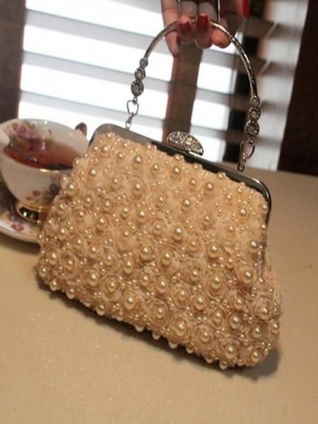 Attraktive aften-/festhåndvesker med perle