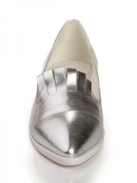 Sheepskin Pointed Toe Wedges
