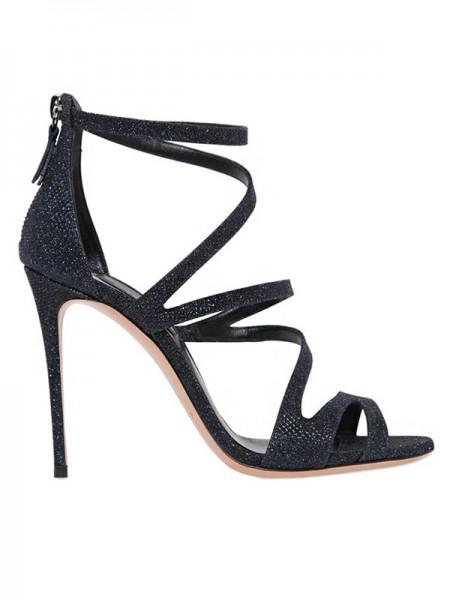 Kvinners Suede Åpen skotupp Stiletto Heel Sandals