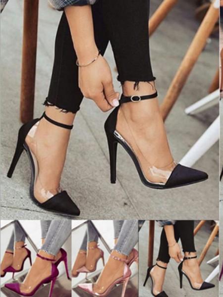 PU Stiletto Hæl Lukket Tå Kvinner høye hæler