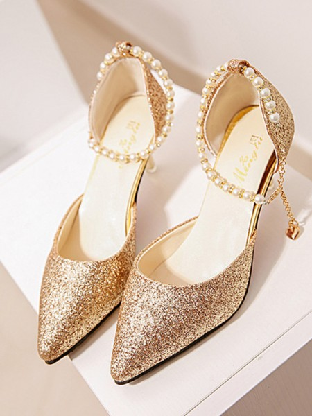 Perle Stiletto Hæl Dame høye hæler