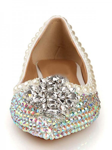 Patent Lær Diamant Pointed Toe Flats